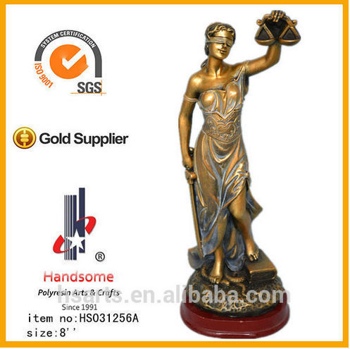 8 Inch Hot Sell Brass Justice Lady Justice Statue