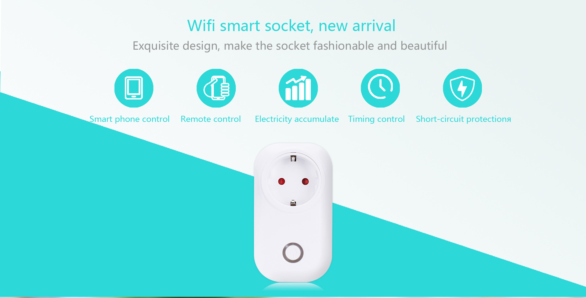 Programmable Smart Electrical Plug App Remote Control EU Wifi Smart Plug