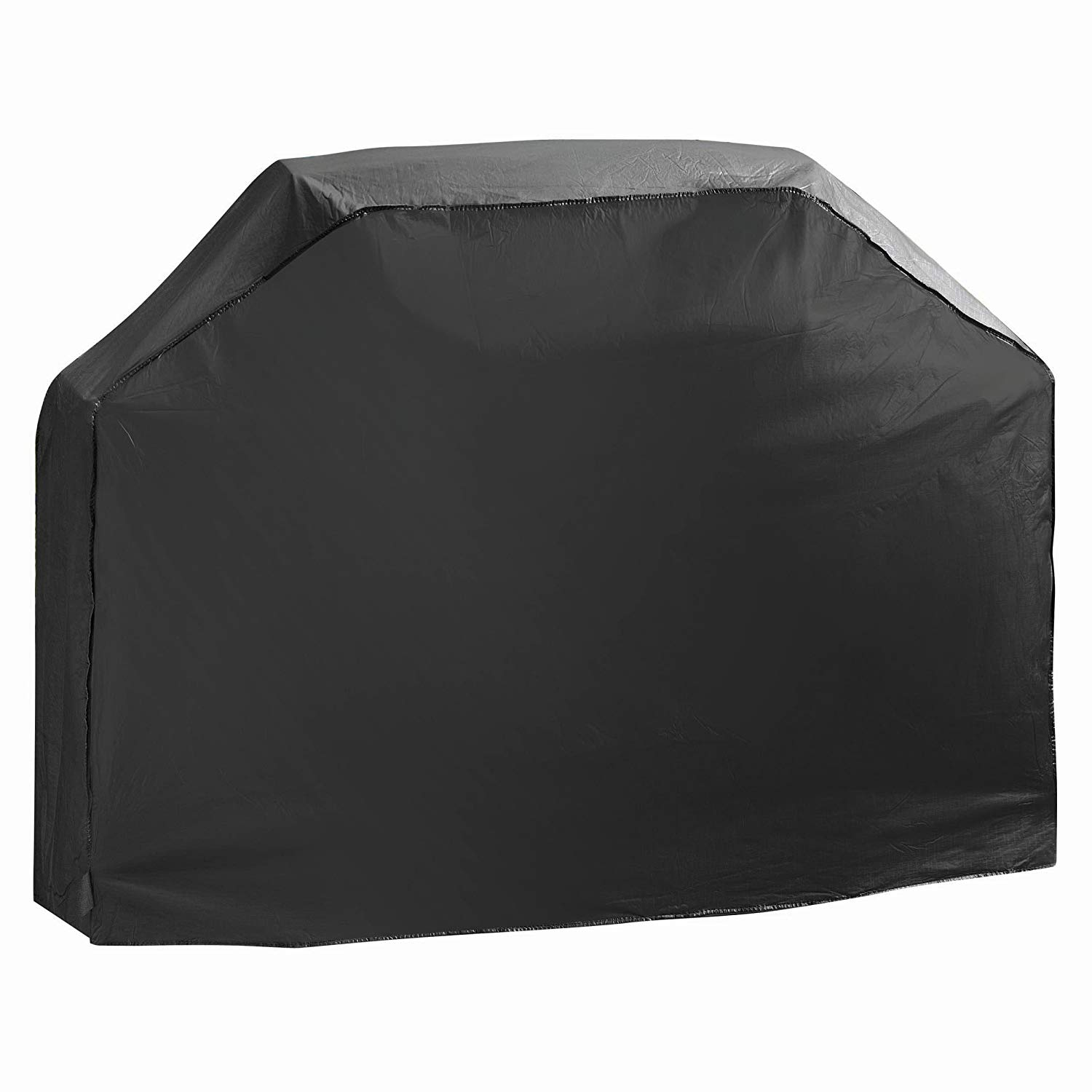 Ln 1 Piece Black Outdoor Camping Grill Cover Waterproof 42 Inch, Water Repellent BBQ Cover Medium Durable Patio Barbecue Cover Heavy Duty Material Closure at Bottom Grill Secure, Vinyl Flannel