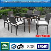 High quality wicker rattan used teak outdoor furniture