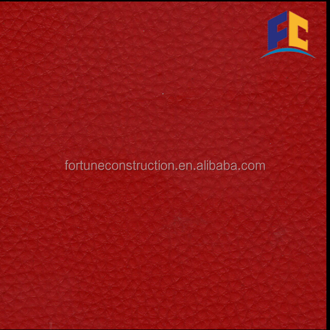 Red Color thick futsal flooring outdoor vinyl flooring roll