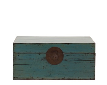 Chinese Antique Blue Lacquered Hand-finished Distressed Wooden Trunk - Buy  Antique Storage Trunks,Wooden Trunk,Solid Wood Vintage Furniture Product on  ...
