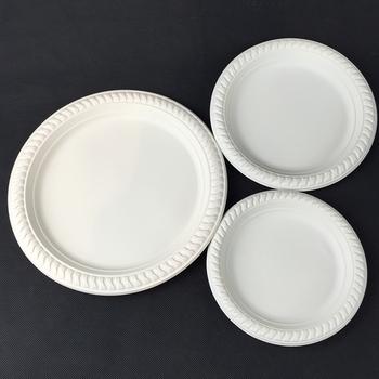 Disposable Biodegradable Corn Starch Tableware 6 Inch Round Plate - Buy  Corn Starch Plate,Corn Starch Round Plate,Corn Starch 6 Inch Plate Product  on
