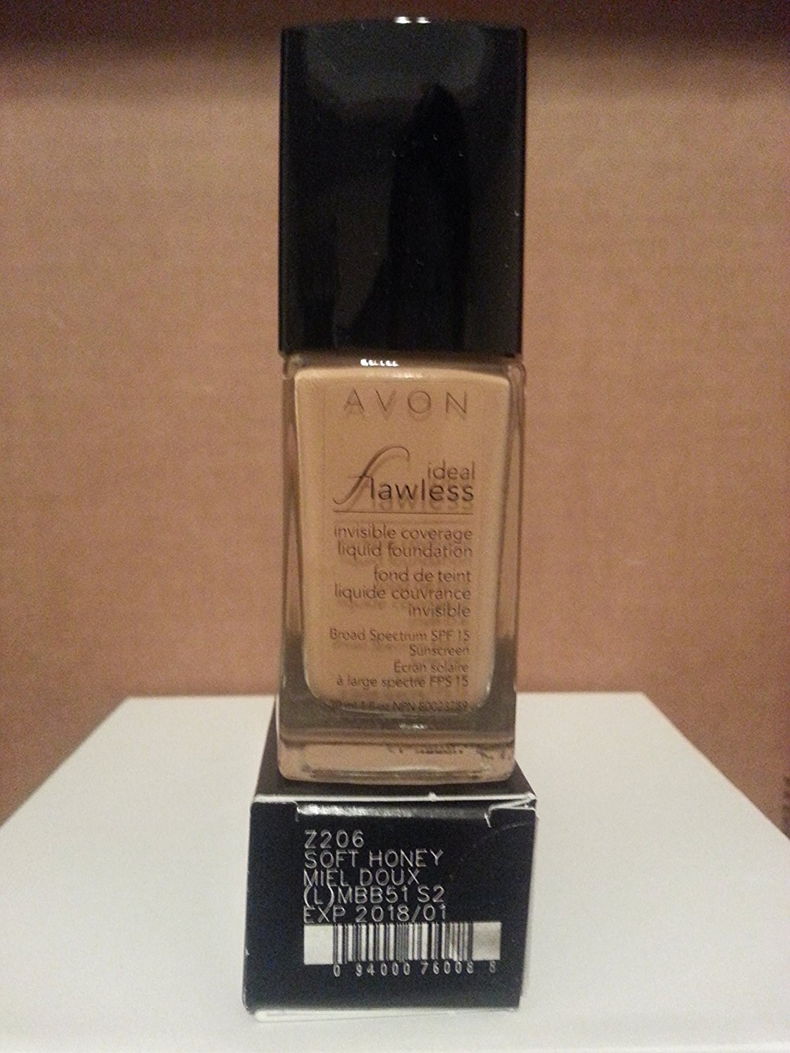 Avon Ideal Flawless Invisible Coverage Liquid Foundation SOFT HONEY