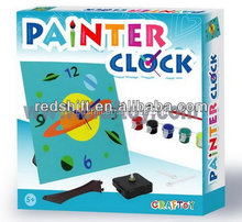 Painting toy coloring kit Painter Clock Space