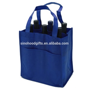 2019 China wine tote bag 6 bottle wine bag non woven wine bottle bag