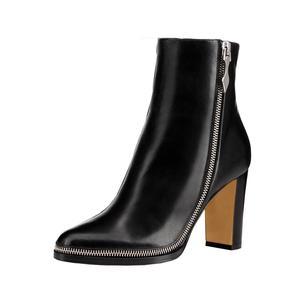 c190c6290fc Zipper Design Women Block Heels Genuine Leather Women Shoes China Suppliers  Shoes