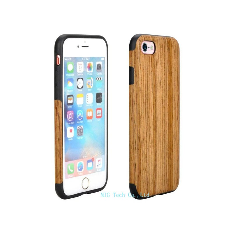 Free Shipping Soft TPU Cell Phone Case Wood Skin Style for Apple iPhone 7 Phone Accessories