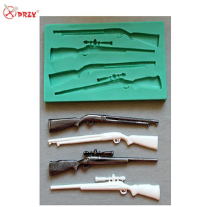 New fondant mold Rifle shape Sugarcraft gun molds Silicone handmade cake decorations Mold