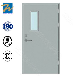 High Quality Wholesale Custom Cheap wh ul 90 mins timber wood fire resistant door steel frame