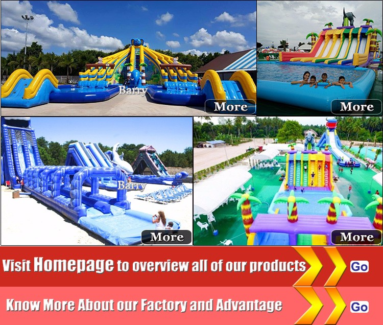 OEM/ODM inflatable amusement park , giant inflatable water park for commerical business