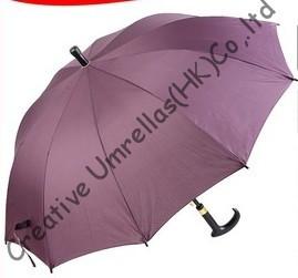 10 ребер, Автоматический открытый, pongee ткани, перевозка груза падения разрешено, костыль зонтики, старик первый выбор, восхождение палку, уличные зонтики