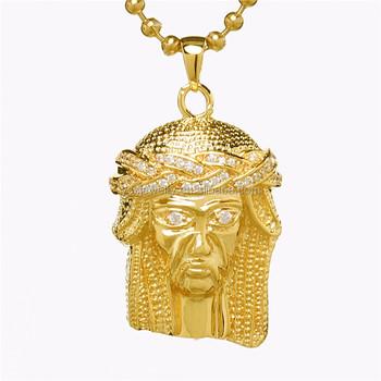 Jewelry making supplies mini jesus pendant bling crown gold steel jewelry making supplies mini jesus pendant bling crown gold steel yss156 aloadofball Gallery