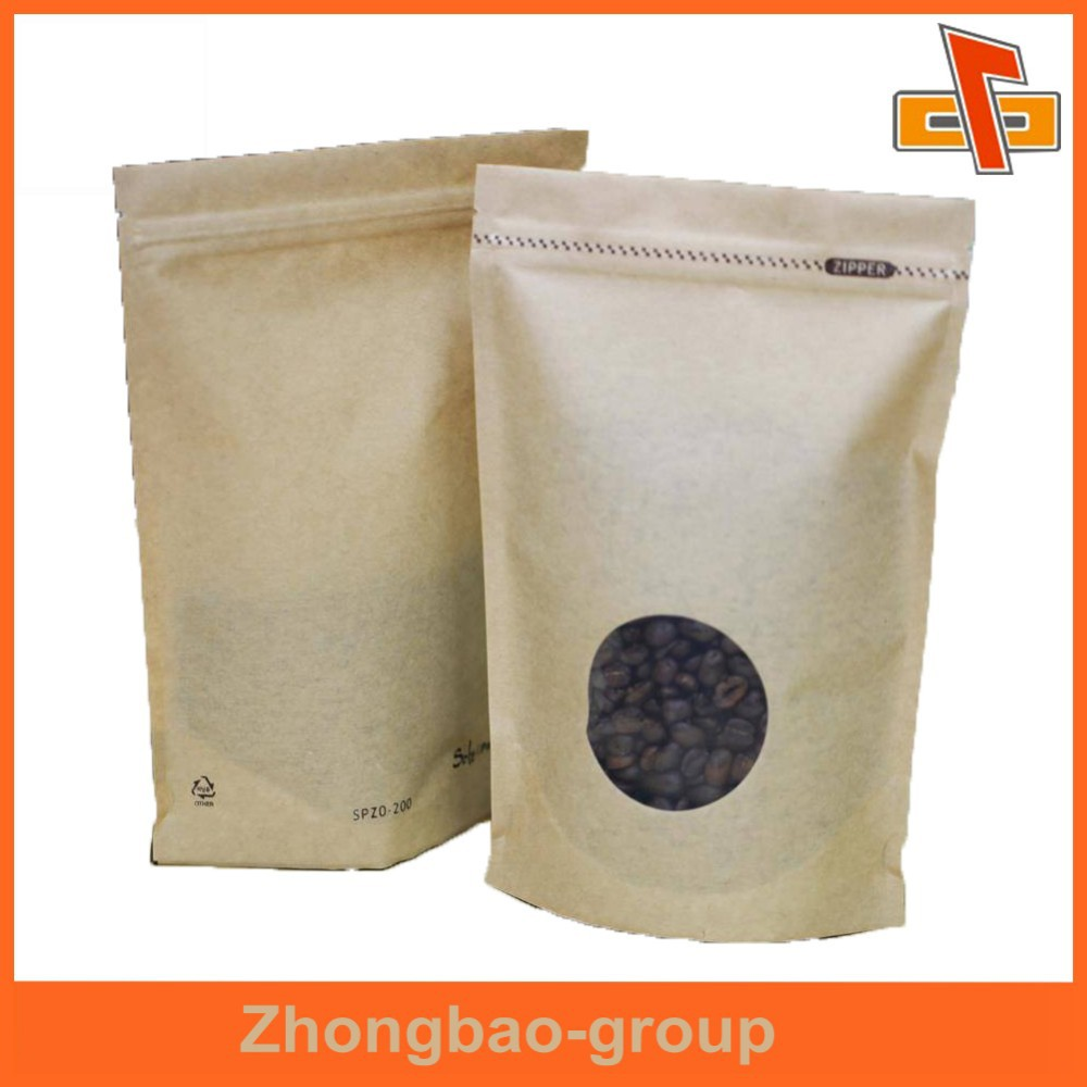 China 2oz 4oz 6oz Kraft Stand Up Pouch With Window Manufacturers And Suppliers On Alibaba