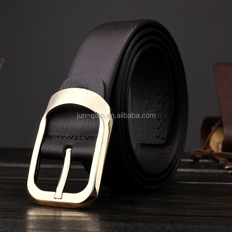 mens automatic elastic pu leather belt for ladies