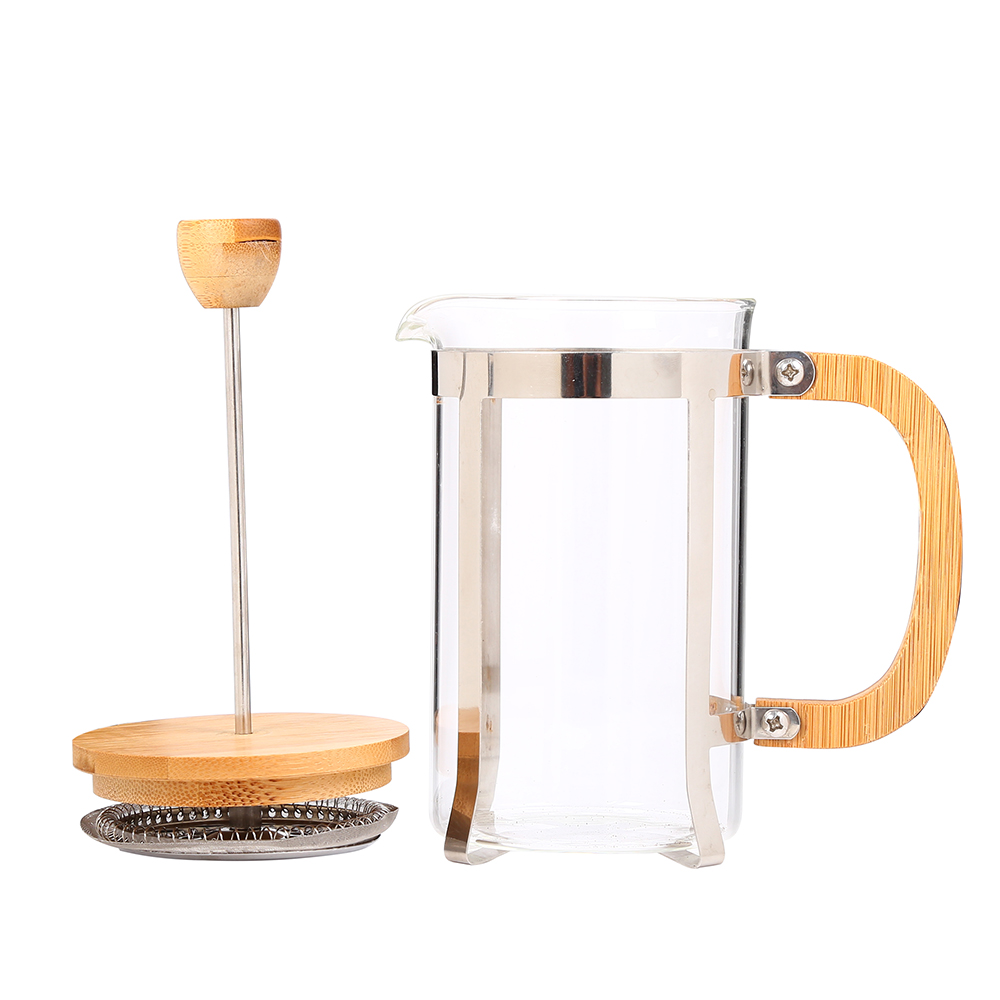 High quality glass french press coffee plunger