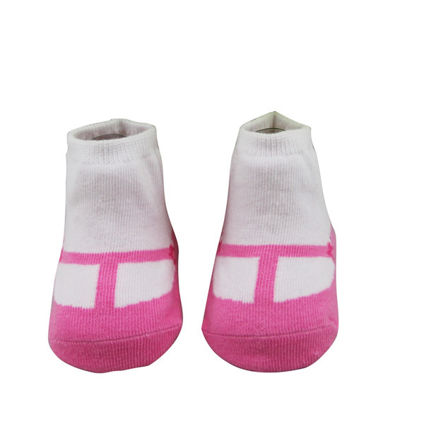 Hot sell quality cotton baby socks like shoe with silicon anti-slip