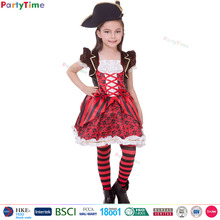Party Time Merk rode captain pirate girl fancy dress sheer halloween kostuums