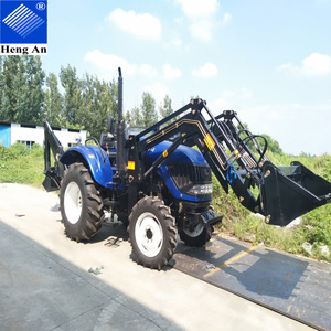 Cheap Farm Tractor with Front Loader And Backhoe