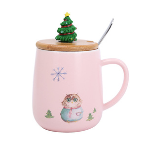 Zogift China bulk wholesale cheap personalized holiday decorative christmas mugs with animal print for children wholesale