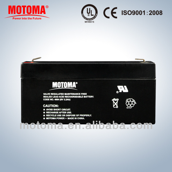 low self-discharge battery maintenance free lead acid batteries 12V 3.2ah for UPS