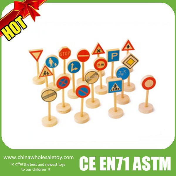 wooden toy road signs,wooden traffic sign toy,road traffic signs factory