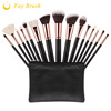 professional 15pcs makeup brush set synthetic hair and goat hair cosmetic brush set