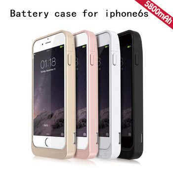 best service 7ab09 84e5c For Iphone 6 6s Battery Case Ultra Thin 5800mah Power Bank Battery Charger  Rechargeable Back Case - Buy For Iphone 6 Battery Case,For Iphone 6s ...