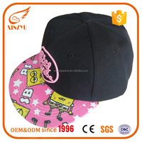 Customized Embroidery Printed Snapbacks Cap Flat Brim Hat With Own Factory