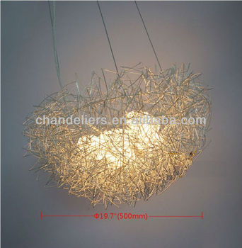 New aluminum wire birds nest chandelier ceiling light pendant new aluminum wire birds nest chandelier ceiling light pendant lamp lighting mozeypictures Image collections