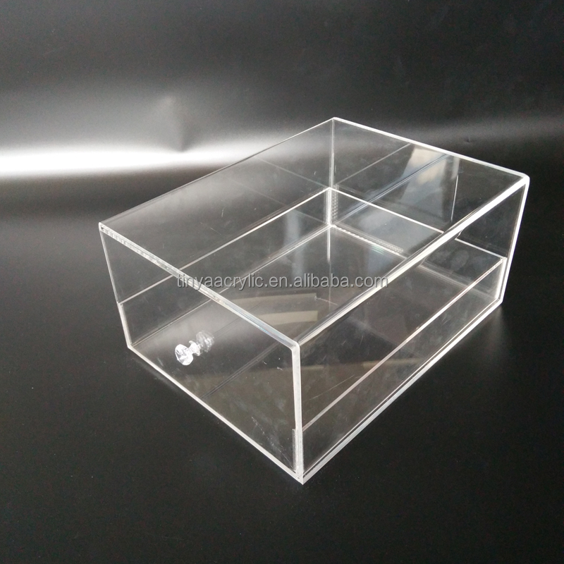 Factory Wholesale Hot Bending Craft Acrylic Box for Adidas Lucite Sneaker Display Case Clear Plastic Acrylic Shoe Storage Box
