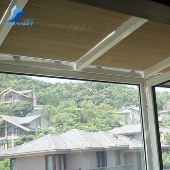 Custom blackout honeycomb components motorized skylight roller blinds