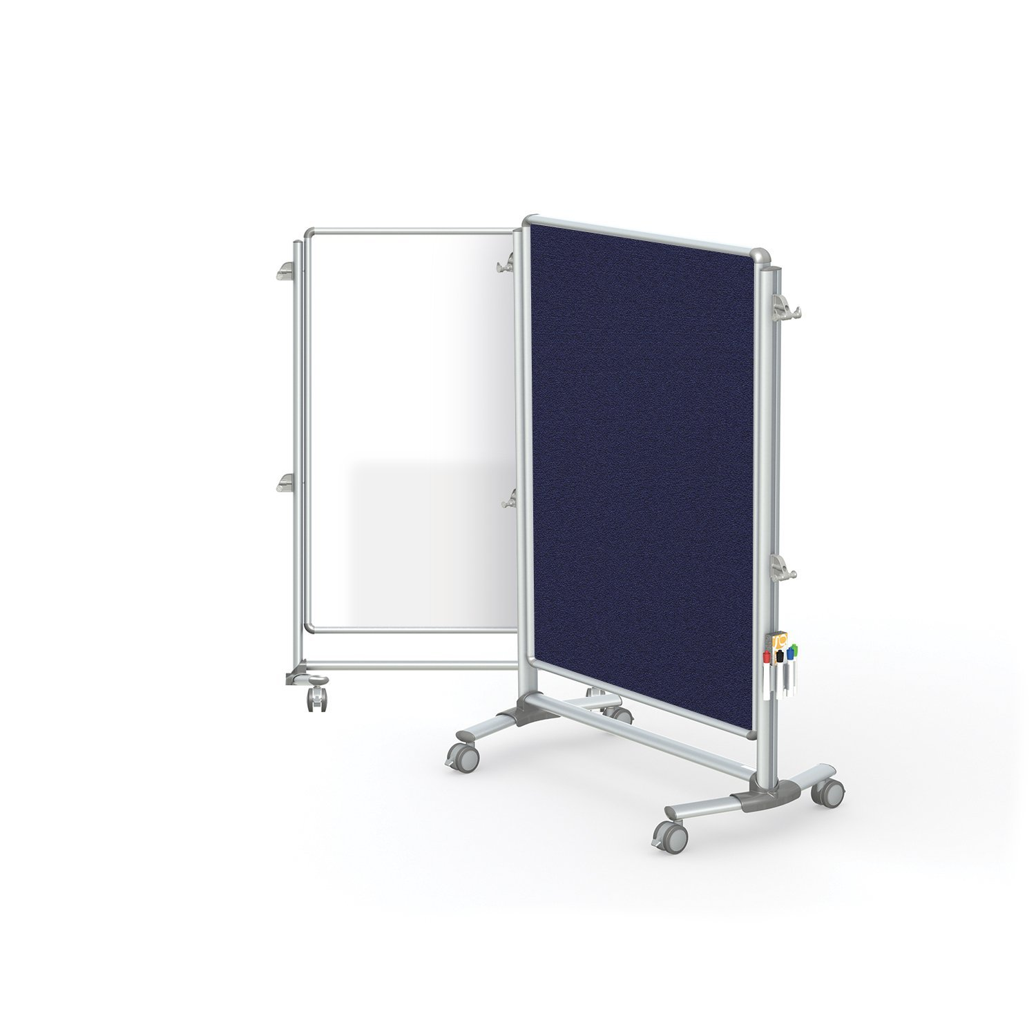 "Ghent 57-3/8"" x 40-3/8"" Nexus Jr. Partition, Magnetic Whiteboard/Bulletin Board, Double-Sided (NEX223MFP-93)"