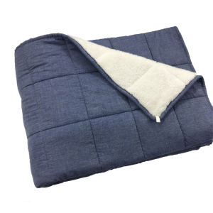 "hot selling 60""x80"" 15/20/25 lbs sensory weighted blanket adult"