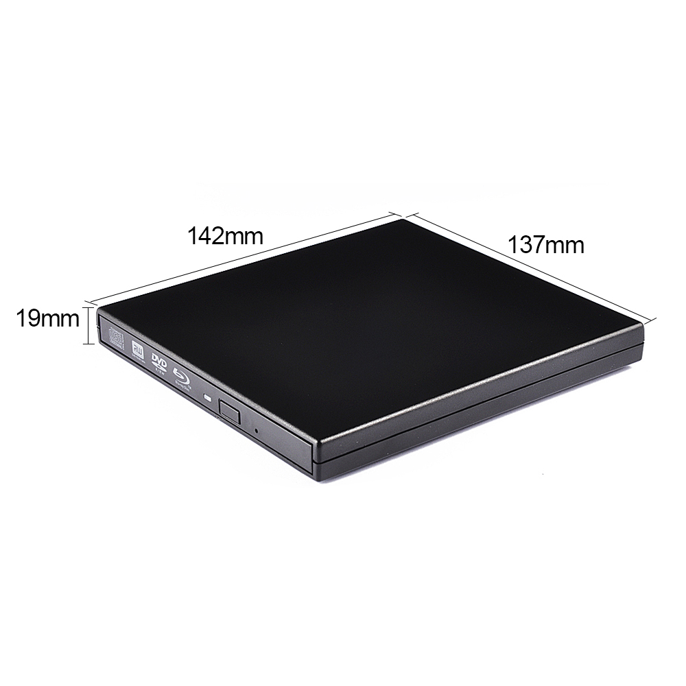 Manufacture Ultra Slim 9.5mm External CD / DVD RW USB2.0 Blu-ray Optical Drive