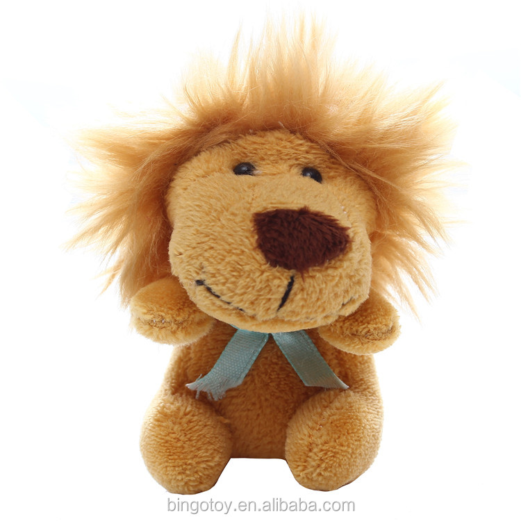super soft lovely sea animal toy plush stuffed mini lion keychain for wholesale