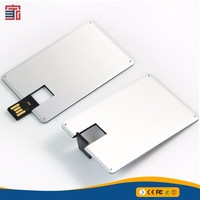Superior service credit card style usb flash memory stick