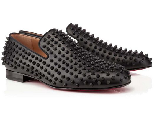 f7bad89fd30 Buy Red Bottom Men Shoes 2015 CLASSIC RED BOTTOMS SHOES MENS SPIKES BLACK  CALF LEATHER STUDDED LOAFER RED SOLE in Cheap Price on m.alibaba.com