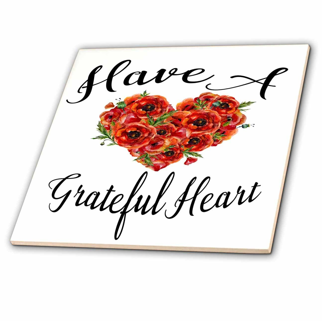 Buy 3drose anne marie baugh quotes have a grateful heart with a 3drose anne marie baugh quotes have a grateful heart with a watercolor red poppy mightylinksfo