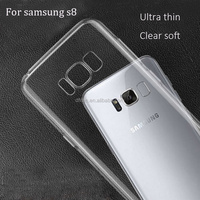 DFIFAN Cases Cover for mobile phone For galaxy s8 clear tpu case, Crystal Clear Transparent Soft Silicon TPU Case for S8 s8 plus