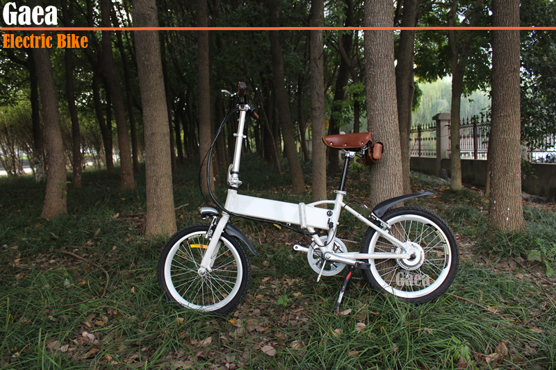 Gaea 20inch folding electric bicycle foldable pocket bike for sale