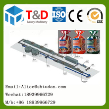 T&D Bakery Equipment --750kg/h Full complete hot industrial used toast bread maker production line
