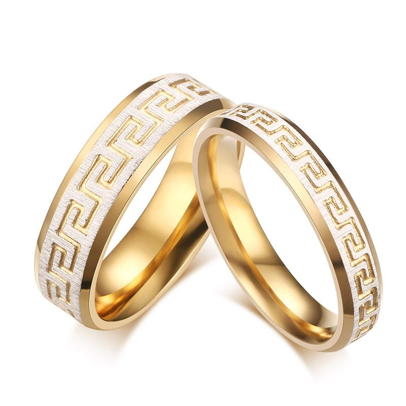 Fancy Wedding Ring Gold Color Promise Love For Engagement Jewelry