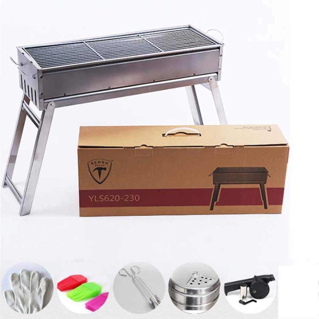 barbecue grill, Portable Barbecue Grill Package,Indoor Grills & Griddles Portable stand Camping Camping Grills Stoves (Size : BYLS480)
