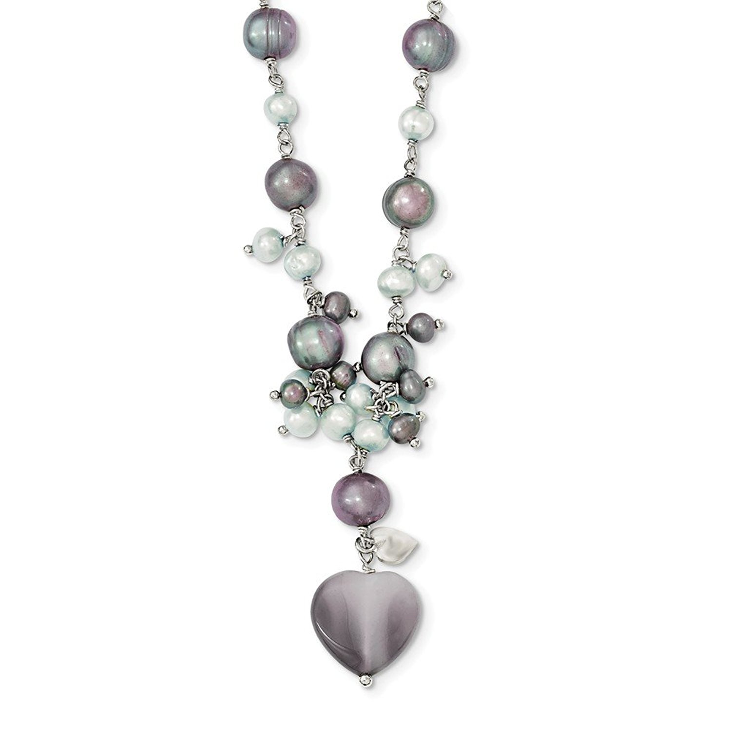Roy Rose Jewelry Sterling Silver White Freshwater Cultured Pearl Necklace 16 Length