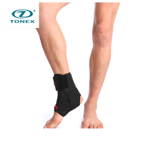 New design good quality best leg ankle support black wrap sports braces with FDA certificate