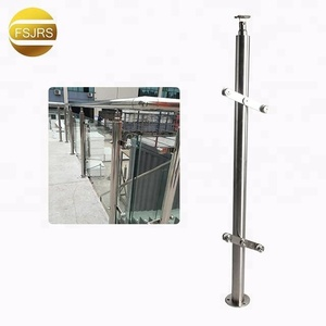 Stainless balustrade post/pillar for europe