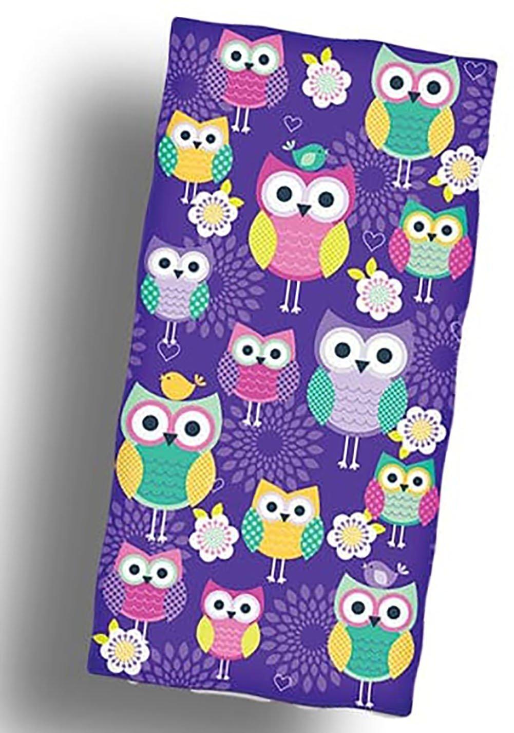 "Custom & Luxurious {36"" x 58"" Inch} 1 Single Large & Thin Soft Summer Beach & Bath Towels Made of Quick-Dry Cotton w/ Colorful Basic Girly Owls Lounging Vacation Souvenir Style [Multicolor]"