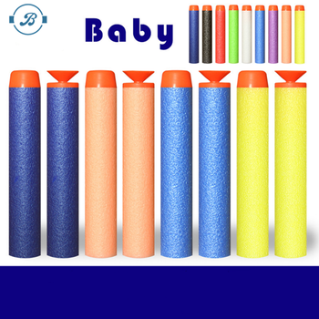2017 popular 7.2*1.2cm EVA soft foam Refill Bullet Darts for Kid Toy Gun