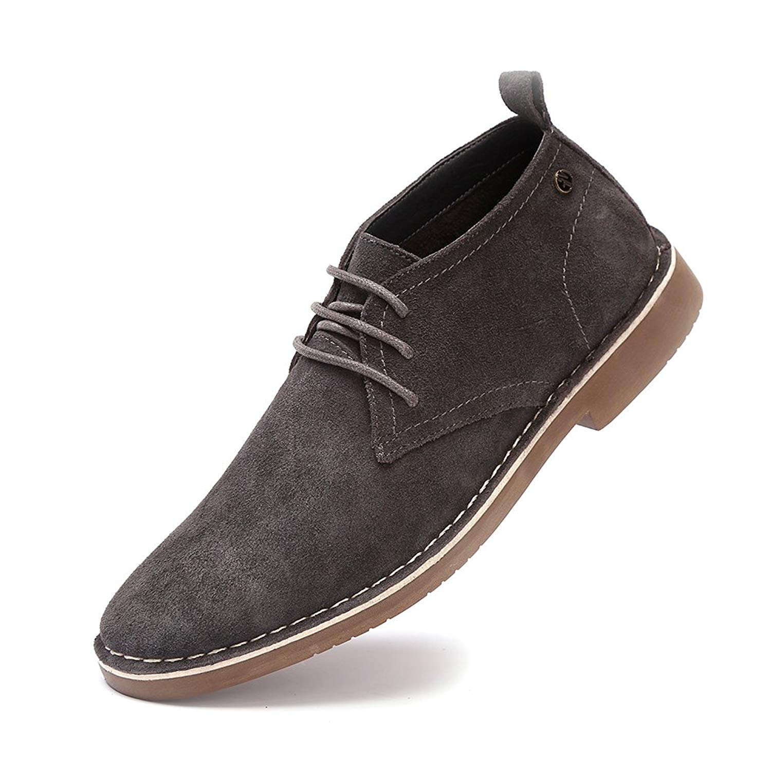 Get Quotations · GOLAIMAN Men s Suede Leather Chukka Boots Lace up Casual  Winter Ankle Desert Boots bbd1ade8aa62